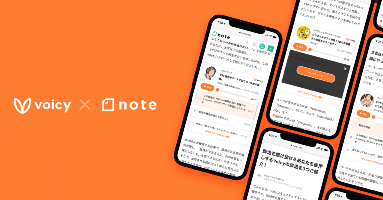 Voicyの放送がnoteの記事内で埋め込み再生が可能に・・・音声と文字の融合コンテンツの提案